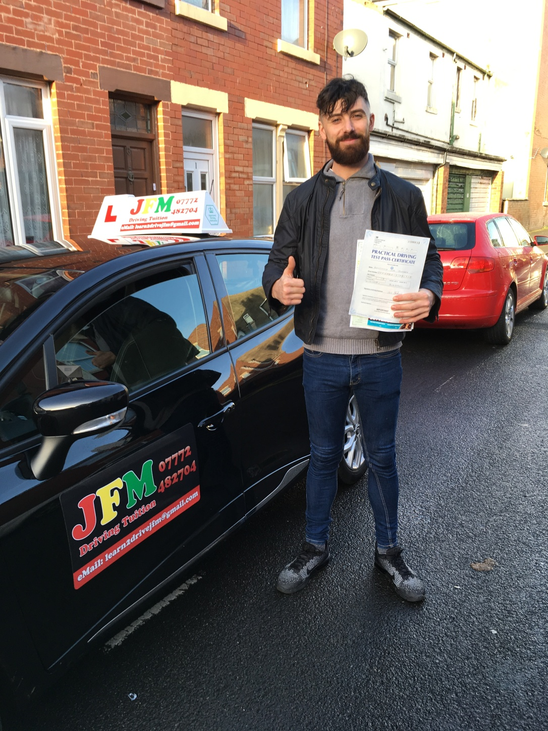 ben johnson driving test pass jfm drivimng tuition