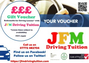 JFM Driving Tuition Gift Vouchers