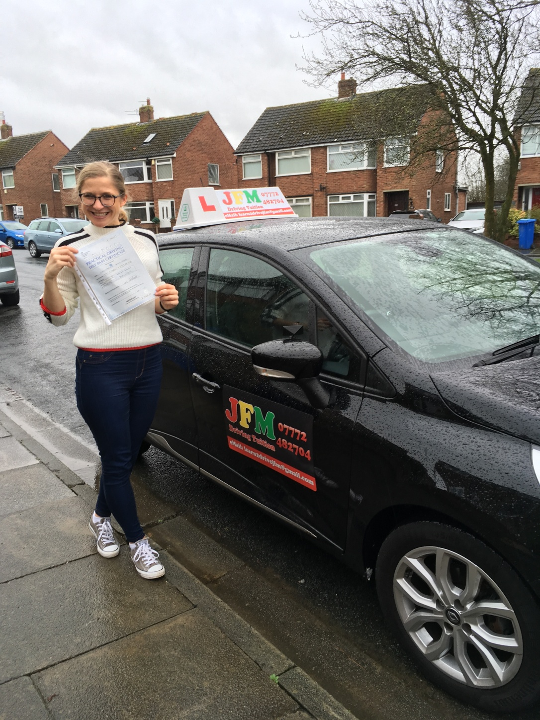 Kat Smirnova who passed her test first time with JFM Driving Tuition