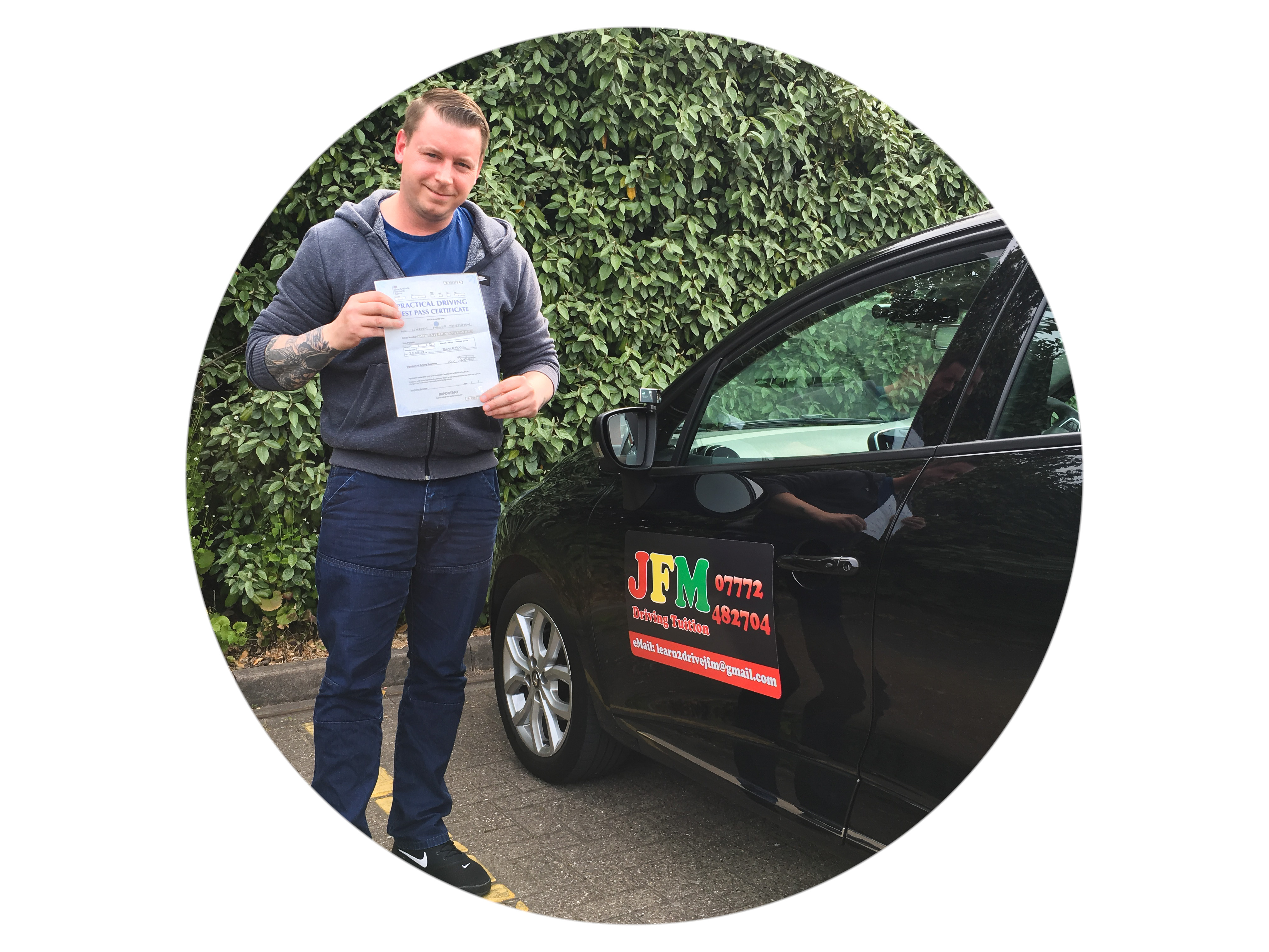 Warren Thistleton first time pass with JFM Driving Tuition