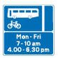 Traffic sign - Bus lane with hours of operation