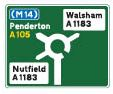 Traffic sign - Information Directions Primary route