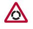 Traffic sign - Warning Roundabout