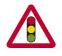 Traffic sign - Warning Traffic lights