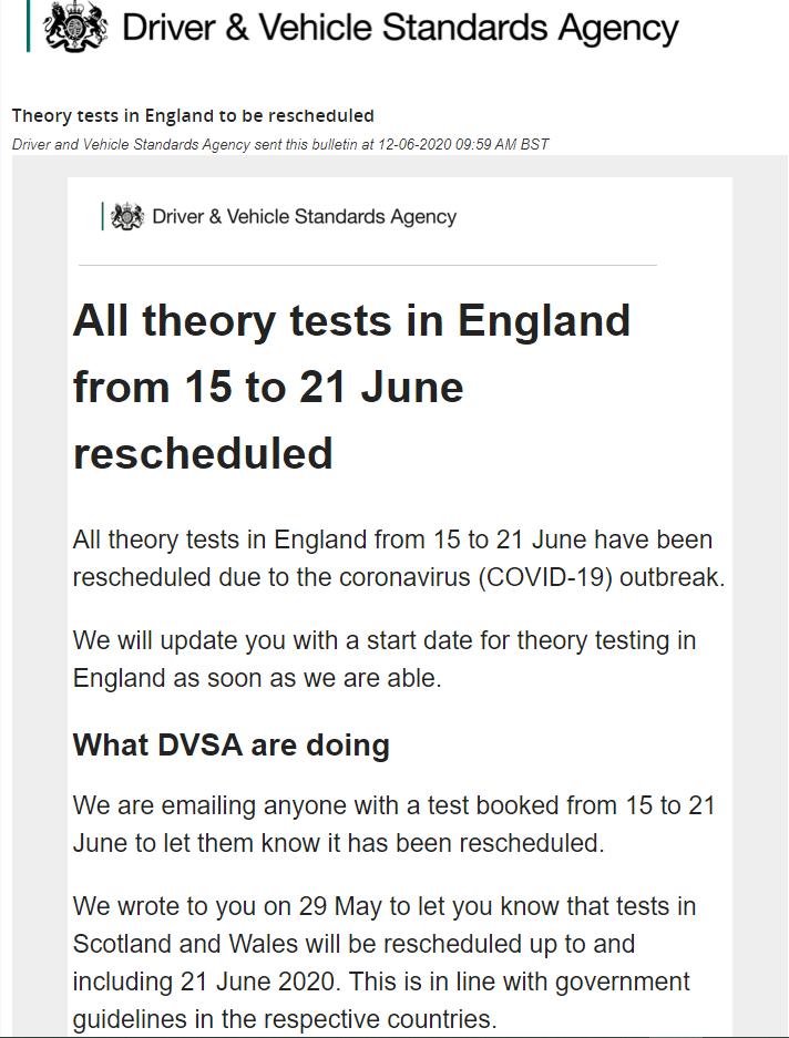 DVSA theory test 120620