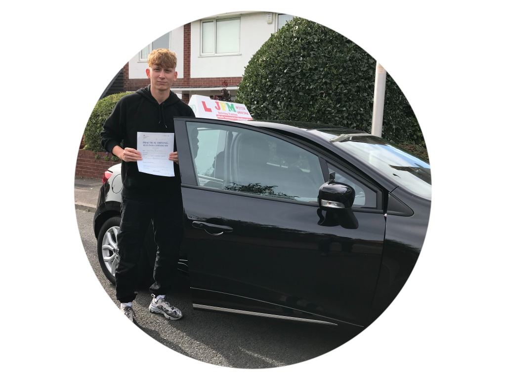 James Heyes, from Poulton-Le-Fylde  who passed his driving test 1st time with JFM Driving Tuition.