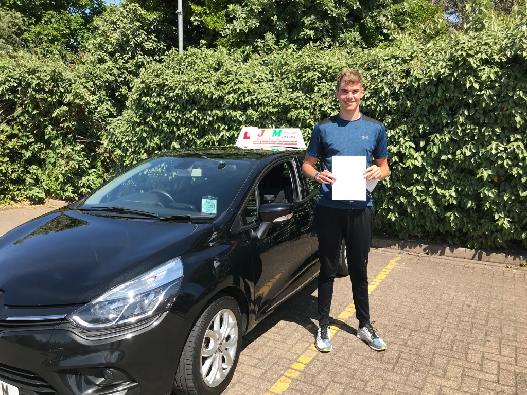 Matt Davitt who passed first time with JFM Driving Tuition - 08/06/21